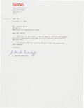 Explorers:Space Exploration, Christa McAuliffe Typed Letter Signed, Dated September 198...