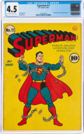 Golden Age (1938-1955):Superhero, Superman #11 (DC, 1941) CGC VG+ 4.5 Off-white to white pages....