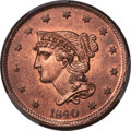1840 1C Large Date, N-8, R.1, MS65 Red PCGS....(PCGS# 395842)
