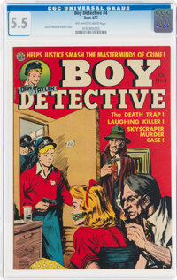 Boy Detective #4 (Avon, 1952) CGC FN- 5.5 Off-white to white pages