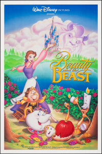 "Beauty and the Beast (Buena Vista, 1991). Folded, Very Fine. One Sheet (27"" X 41"") DS. Animation"