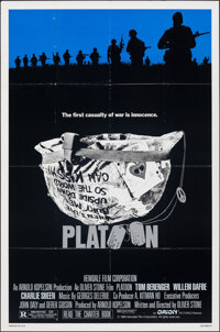 "Platoon (Orion, 1986). Folded, Fine/Very Fine. One Sheet (27"" X 41"") SS, Larry Lurin Artwork. Academy Award Wi..."