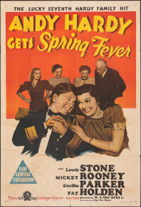 """Andy Hardy Gets Spring Fever & Other Lot (MGM, 1939). Folded, Overall: Fine. Australian One Sheet (27"""" X 39.5&q..."""
