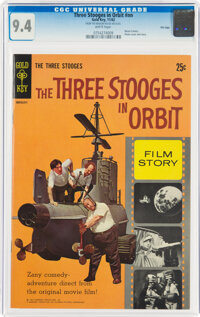 Movie Comics: Three Stooges in Orbit #nn File Copy (Gold Key, 1962) CGC NM 9.4 White pages