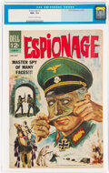 Silver Age (1956-1969):War, Espionage #1 (Dell, 1964) CGC NM+ 9.6 Off-white to white pages....