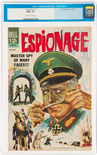 Espionage #1 (Dell, 1964) CGC NM+ 9.6 Off-white to white pages