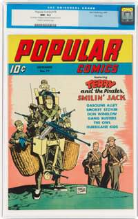Popular Comics #79 File Copy (Dell, 1942) CGC NM- 9.2 Cream to off-white pages