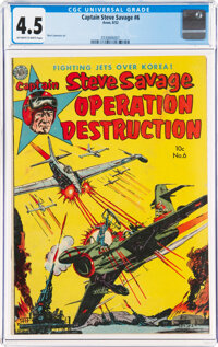 Captain Steve Savage #6 (Avon, 1952) CGC VG+ 4.5 Off-white to white pages