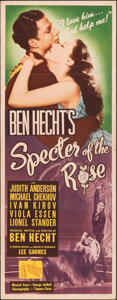 "Movie Posters:Thriller, Specter of the Rose (Republic, 1946). Folded, Fine/Very Fine. Insert (14"" X 36""). Thriller.. ..."