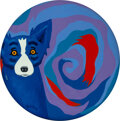Paintings, George Rodrigue (1944-2013). Making Waves, 2003. Acrylic on canvas. 24 inches (61 cm) diameter. Signed lower left: Rod...