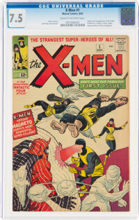 X-Men #1 (Marvel, 1963) CGC VF- 7.5 Cream to off-white pages