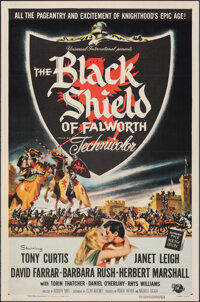 "The Black Shield of Falworth (Universal International, 1954). Folded, Very Fine+. One Sheet (27"" X 41""). Adven..."