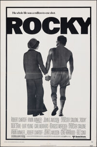 "Rocky (United Artists, 1977). Folded, Very Fine-. One Sheet (27"" X 41""). Academy Award Winners"