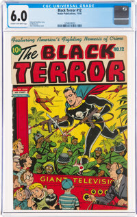 The Black Terror #12 (Nedor Publications, 1945) CGC FN 6.0 Cream to off-white pages