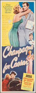 """Movie Posters:Comedy, Champagne for Caesar (United Artists, 1950). Rolled, Fine/Very Fine. Insert (14"""" X 36""""). Comedy.. ..."""