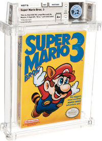 "Super Mario Bros. 3 - Wata 9.2 A+ Sealed [""Bros."" Left, First Production], NES Nintendo 1990 USA"