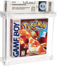 Pokemon Red - Wata 9.8 A++ Sealed [Rattata, Pixel ESRB, Mid-Production], GB Nintendo 1998 USA