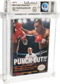 Video Games:Nintendo, Mike Tyson's Punch-Out!! - Wata 7.0 B+ Sealed [Oval SOQ TM, Later Production], NES Nintendo 1987 USA....
