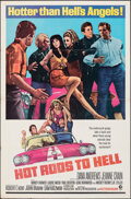"Hot Rods to Hell (MGM, 1967). Folded, Fine+. One Sheet (27"" X 41""). Exploitation"