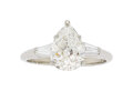 Estate Jewelry:Rings, Diamond, Platinum Ring The ring features a pe...