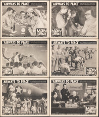 "The March of Time (20th Century Fox, 1943). Very Fine-. Lobby Cards (6) (11"" X 14"") Volume 10, Issue 1 -- &quo..."