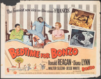 """Bedtime for Bonzo (Universal International, 1951). Rolled, Fine-. Half Sheet (22"""" X 28"""") Style A. Comedy"""