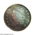 Proof Classic Head Half Cents: , 1835 1/2 C PR64 Brown PCGS. B-2, C-2, R.6 as a proof. ...