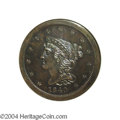 Proof Braided Hair Half Cents: , 1840 1/2 C Restrike PR66 Brown NGC. B-3, Low R.7. Of the ...