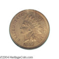 Proof Indian Cents: , 1865 1C PR64 Red PCGS. Plain 5. Fully struck with lovely ...