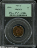 Proof Indian Cents: , 1880 1C PR65 Red and Brown PCGS. This is an attractive ...
