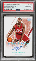 Basketball Cards:Singles (1980-Now), 2003 Upper Deck Ultimate Collection Lebron James (Autograph) #127 PSA Gem Mint 10 - #'d 208/250....