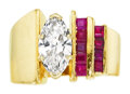 Estate Jewelry:Rings, Diamond, Ruby, Gold Ring . ...