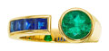 Estate Jewelry:Rings, Emerald, Sapphire, Gold Ring, Aletto Brothers ...