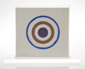 Paintings, Kenneth Noland (b. 1924). Untitled, 1977. Acrylic and ink on linen book cover. 11 x 11 x 1-1/2 inches (27.9 x 27.9 x 3.8...