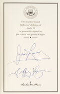 Explorers:Space Exploration, James Lovell and Jeffrey Kluger Signed Collector's Edition Book: Apollo 13. ...