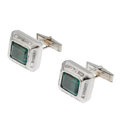 Estate Jewelry:Cufflinks, Tourmaline, Diamond, White Gold Cuff Links. ...
