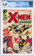 Silver Age (1956-1969):Superhero, X-Men #1 UK Edition (Marvel, 1963) CGC GD/VG 3.0 White pages....