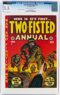 Two-Fisted Annual #1 (EC, 1952) CGC FN- 5.5 Off-white to white pages