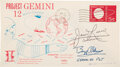 Explorers:Space Exploration, Gemini 12 Crew-Signed Launch Cover. A Swanson Spa...