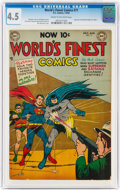 Golden Age (1938-1955):Superhero, World's Finest Comics #71 (DC, 1954) CGC VG+ 4.5 Cream to off-white pages....