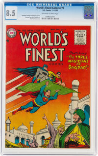 World's Finest Comics #79 (DC, 1955) CGC VF+ 8.5 Off-white to white pages