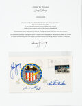 Explorers:Space Exploration, Apollo 16 Crew-Signed Insurance Cover Directly from the Jo...