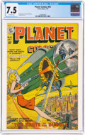 Golden Age (1938-1955):Science Fiction, Planet Comics #61 (Fiction House, 1949) CGC VF- 7.5 Off-white pages....
