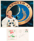 Explorers:Space Exploration, Edgar Mitchell Signed Apollo 14 Lunar Landing Cover and Wh...