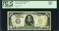 Small Size:Federal Reserve Notes, Fr. 2211-G $1,000 1934 Light Green Seal Federal Reserve Note. PCGS Very Fine 25.. ...