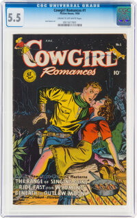Cowgirl Romances #1 (Fiction House, 1950) CGC FN- 5.5 Cream to off-white pages