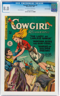 Cowgirl Romances #2 Cosmic Aeroplane Pedigree (Fiction House, 1950) CGC VF 8.0 Off-white to white pages