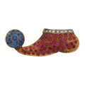 Estate Jewelry:Brooches - Pins, Diamond, Synthetic Ruby, Synthetic Sapphire, Gold Brooch. ...