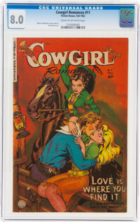 Cowgirl Romances #11 (Fiction House, 1952) CGC VF 8.0 Cream to off-white pages