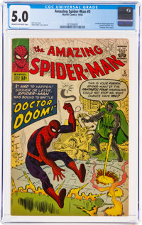 The Amazing Spider-Man #5 (Marvel, 1963) CGC VG/FN 5.0 Cream to off-white pages